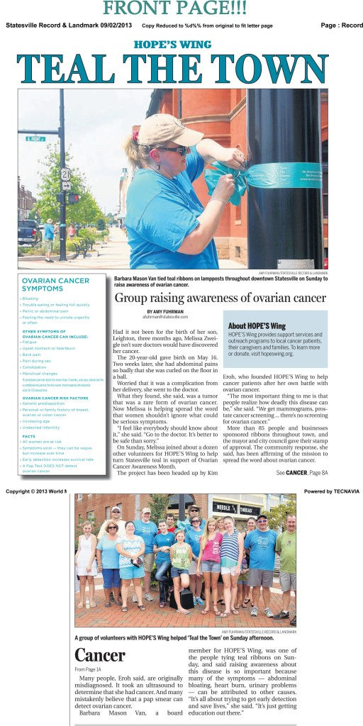 Teal Statesville newspaper